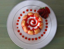 Mini charlotte aux fraises