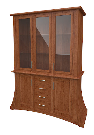 Adagio China Cabinet in Itasca Maple