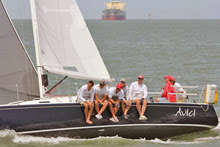 J/105 sailing Galveston Bay, Texas
