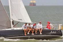 J/105 sailing Galveston Bay, Texas