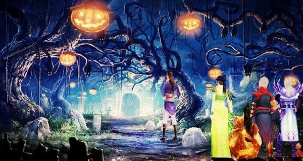 Thiên Long Bát Bộ ngập tràn cương thi ngày Halloween 1