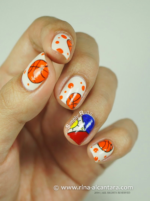 Gilas Pilipinas Nail Art Design by Simply Rins - Nail Art: Gilas Pilipinas (Basketball) Simply Rins