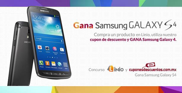 Gana un Samsung Galaxy S4 ahorrando con Linio y Cuponesdescuentos.com.mx