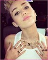 Miley Cyrus had an Extreme Allergic