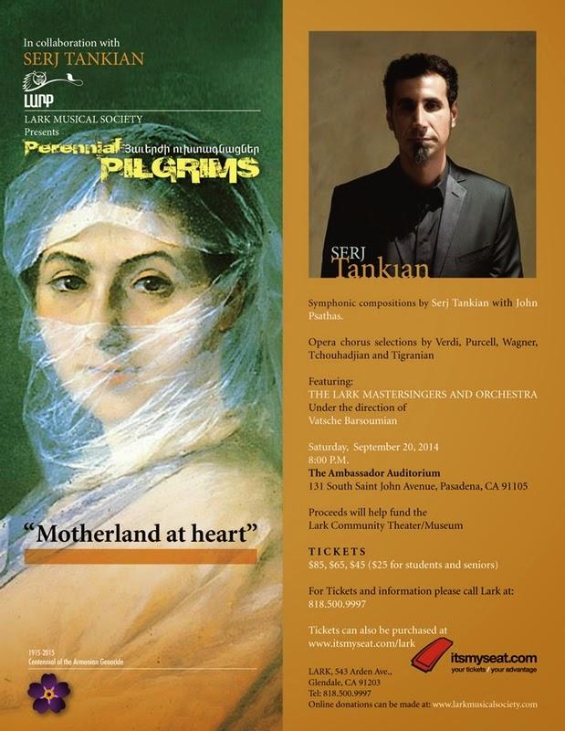 Serj Tankian irá estrear nova composição sinfônica na Califórnia
