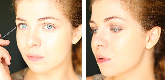 maquillage de fête, tuto pas à pas, tuto make up soirée, maquillage yeux bleus, make up look réveillon