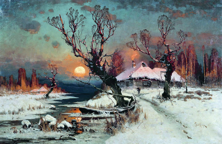 Julius Sergius von Klever - Winter Sunset, 1891