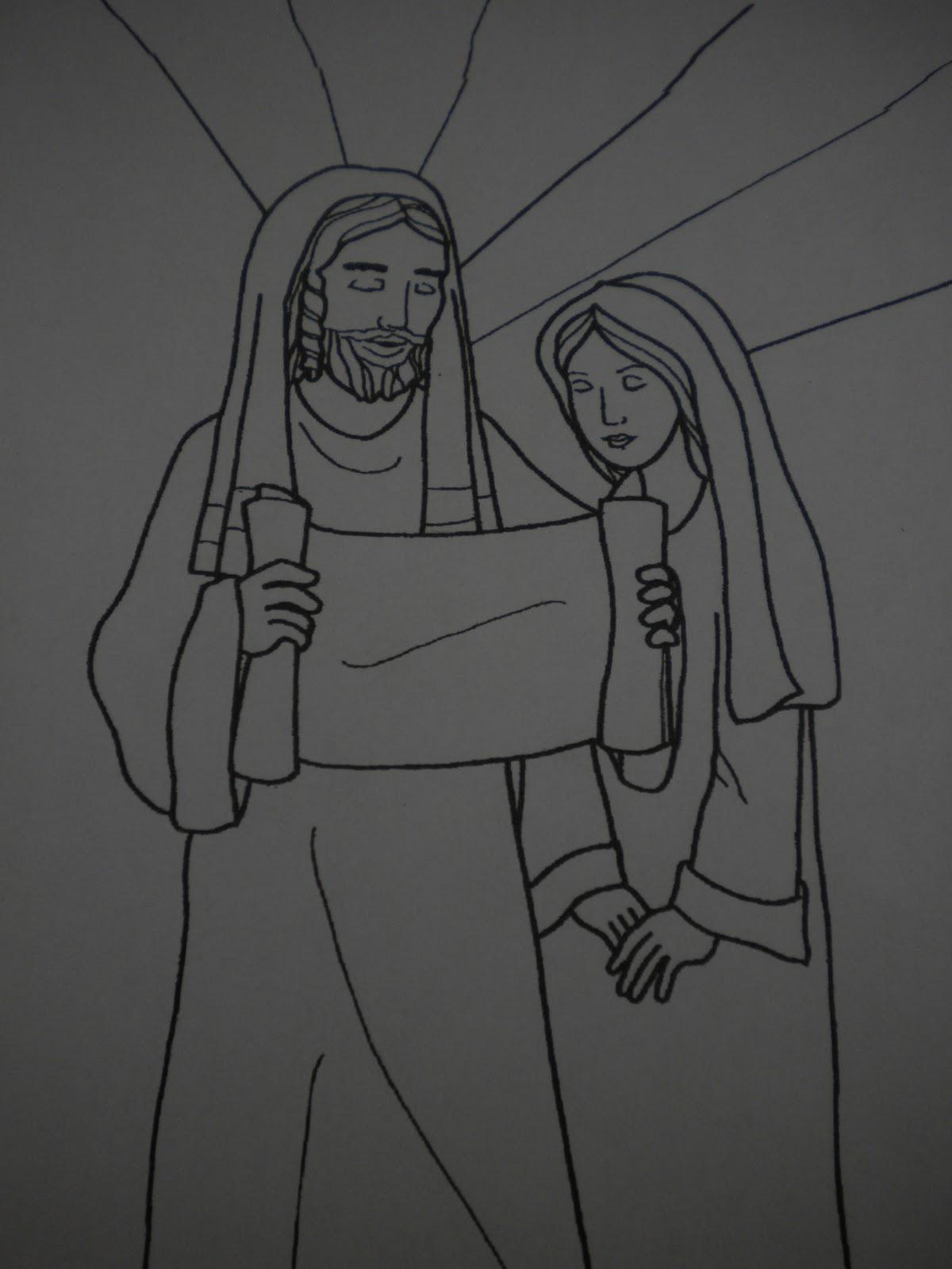 Familia Católica: San José: Páginas para Colorear para niños