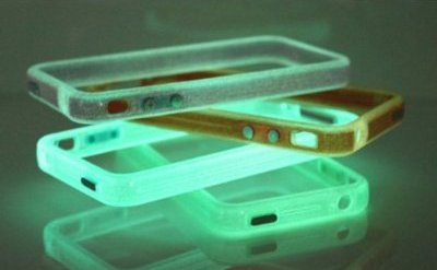 Orange Translucent Glow in the Dark Premium Bumper Case for Apple iPhone 4