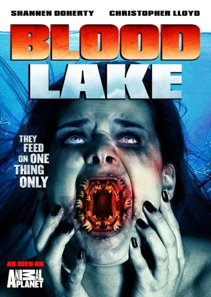 Poster Of English Movie Blood Lake: Attack of the Killer Lampreys (2014) Free Download Full New Hollywood Movie Watch Online At Alldownloads4u.Com