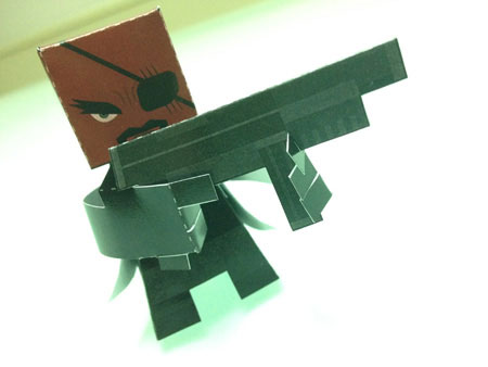 2012 Avengers - Nick Fury Paper Toy