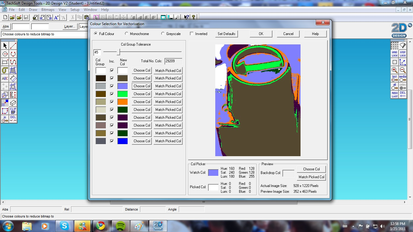 CAD Progression: Clipping and vectorizing images in 2D design.