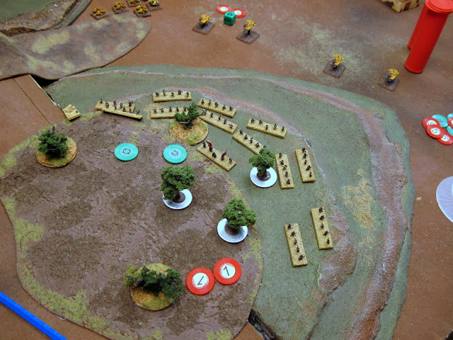 Land Speeders double and lay a BM on an infantry coy.