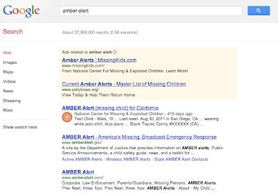 Google Public Alerts AMBER