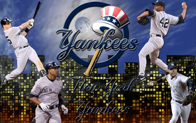New York Yankees Night Sky Wallpaper