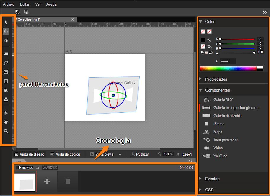 Crear animaciones en html5 con google web designer pcwebtips for Programa para dibujar en 3d