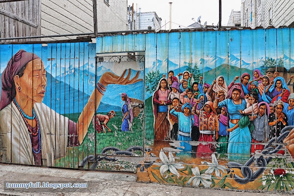 Definition Of Mural Of Eat Till Tummy Full Balmy Street Murals Human Rights