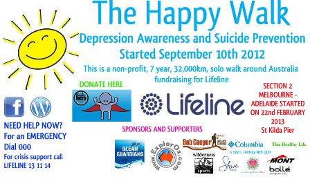 The Happy Walk - A Walk Raising Awareness About Depression & Suicide Prevention