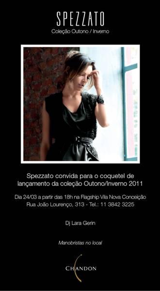 Coquetel de lançamento da coleção inverno 2011 Spezzato