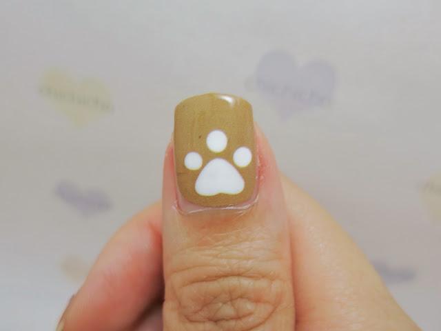 Poodle Puppy Nail Wrap Nail Art A1038