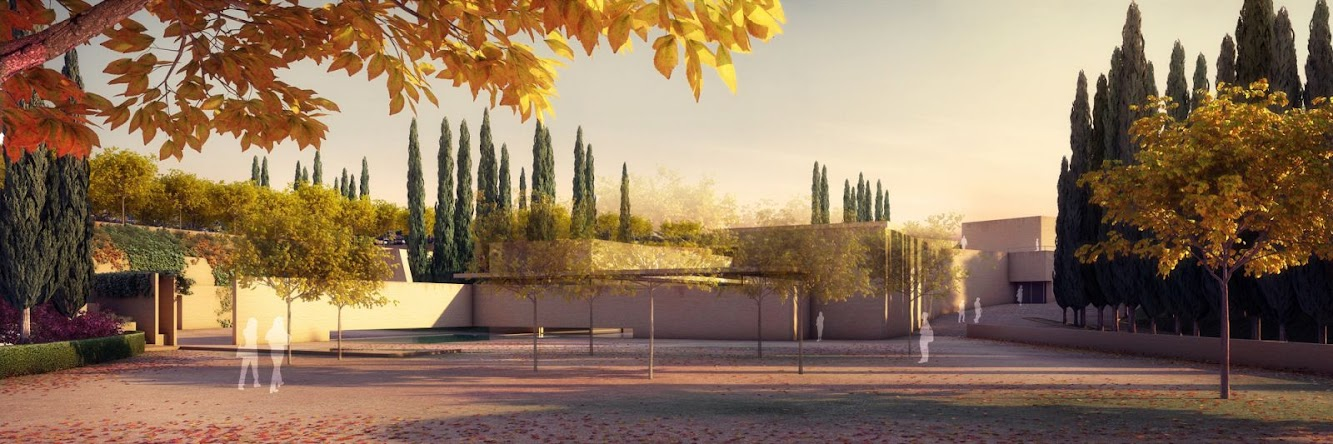 Spain:  the ALHAMBRA'S NEW GATE by ÁLVARO SIZA + JUAN DOMINGO SANTOS