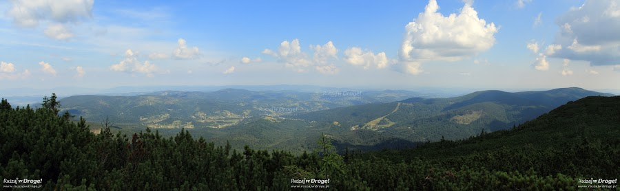 Panorama w drodze na szczyt Babiej Góry