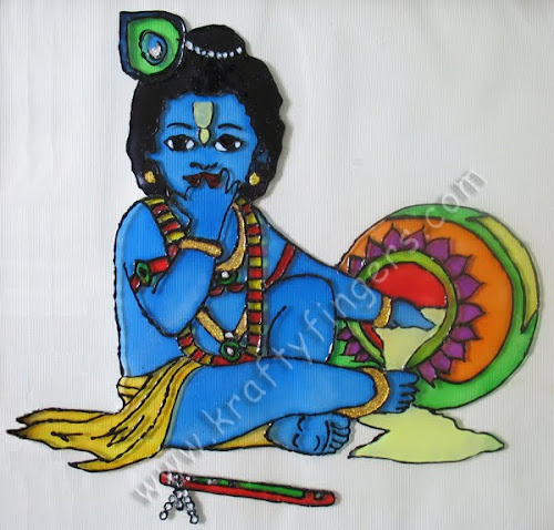 Bal Gopal: Glass Painting