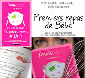 Livre premiers repas de bébé Mum Book
