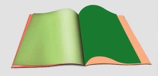 cahaya yang diterima buku dan bagian gelap untuk bayangan buku