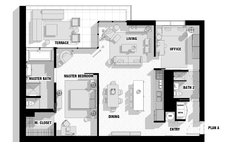 incorporated architecture design benroth rolston stuart Gallery Lofts Couple Apartment.jpg