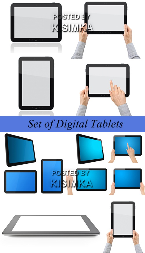 Stock Photo: Set of Digital Tablets