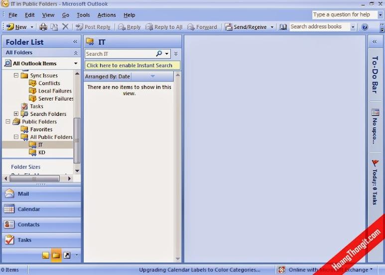 Gỡ bỏ giấy phép mặc định với Public Folder