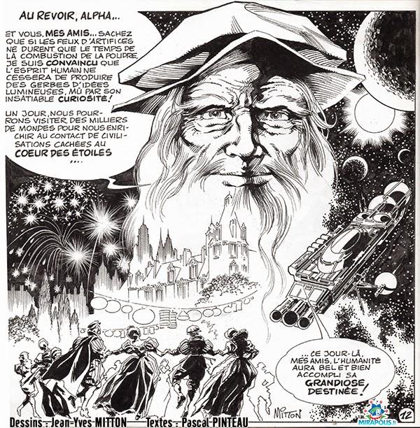Page 12 de la BD Leonard de Vinci vendue a Mirapolis