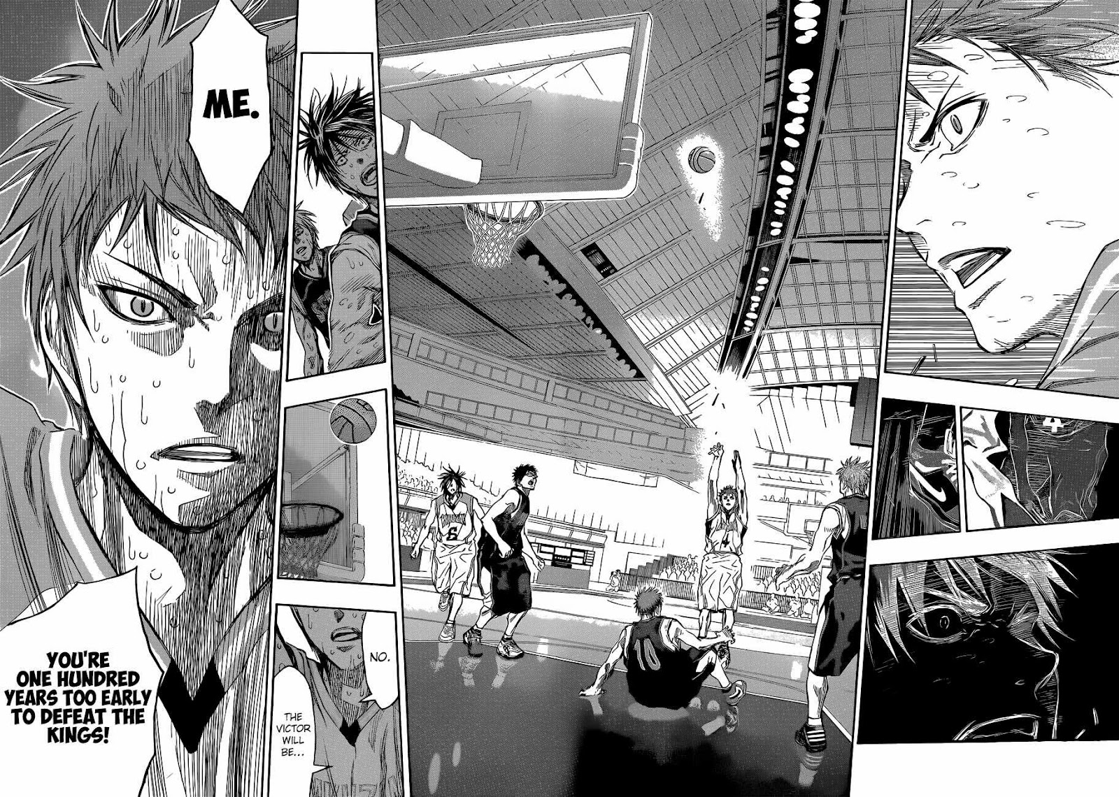 Kuroko no Basket Manga Chapter 271 - Image 16-17