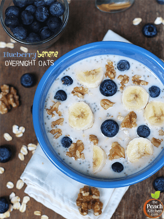 Blueberry Banana Overnight Oats
