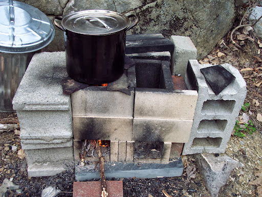 The rocket stove: Produces less smoke and uses less wood! - AliceEckles: The Rocket Stove: Produces Less Smoke And Uses Less Wood!