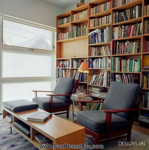 Các mẫu thiết kế nội thất phòng đọc sách P1-16