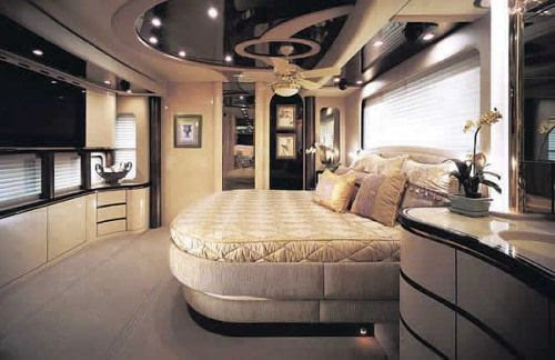 The paradise bedroom on the world most expensive vehicle