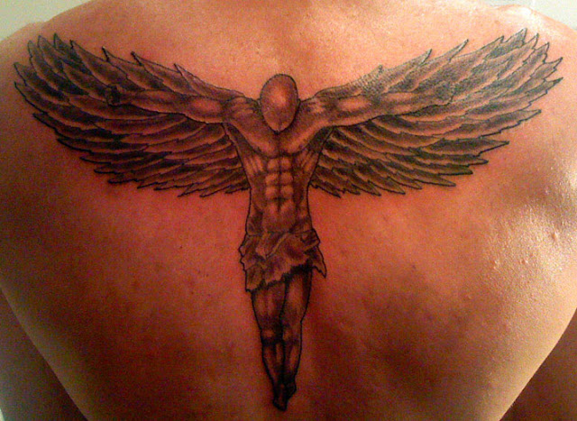 angel tattoo designs for back
