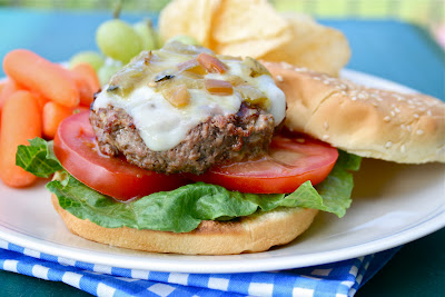 Green Chile Cheeseburgers