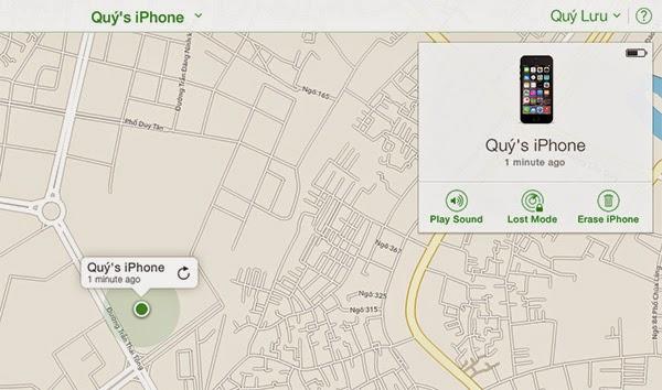 Hướng dẫn tìm lại iPhone thất lạc bằng Find My iPhone