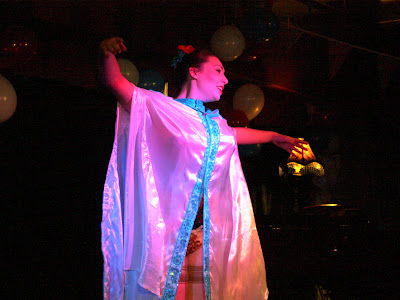 Performer at Volupte cabaret show in London