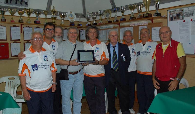 La Bocciofila Casciaghese vince il campionato Provinciale per Società.