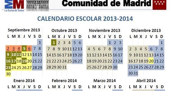 Calendario Escolar Madrid.Calendario Escolar Curso 2013 2014 En La Comunidad De Madrid Es