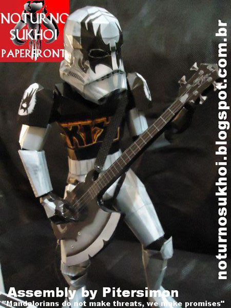 Demon Rocktrooper Papercraft