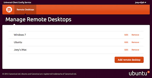 accesso remoto su Ubuntu 12.10