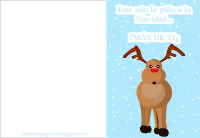 postal felicitacion navidad nieve