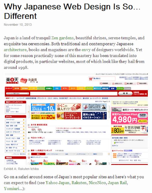 外国人「Why Japanese Web Design Is So Bad. (なぜ日本のWebデザインはとても悪いのか)」