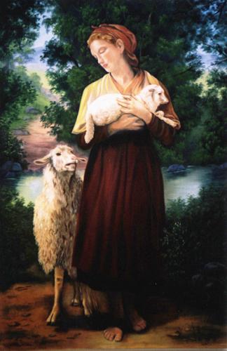 """The Shepherdess"" by artist Pat Bistline."