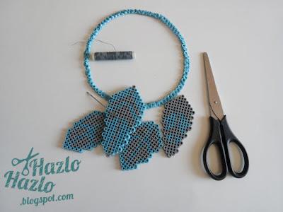 Cazasueños con hama beads.